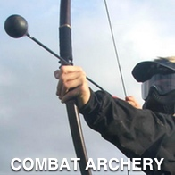 Man playing Combat Archery