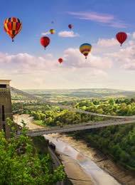 Bristol Balloons Over The Clifton Bridge