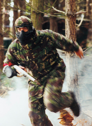 Paintball Man Running