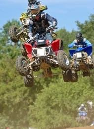 Quad Biker getting air Jumping