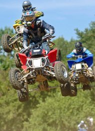 Quad Bikers Off Ground