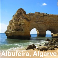 Albufeira Beach and Rocks