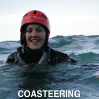 Woman Coasteering
