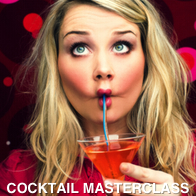 Young Woman Drinking Cocktail Pulling a Face