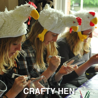 Hens Doing Crafts
