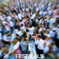 Crowd of People at a Festival