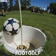 Ball Going into The Cup At Footgolf