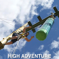 Man Taking Part in High Adventure