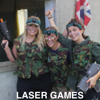 Hen Party Playing Laser Games