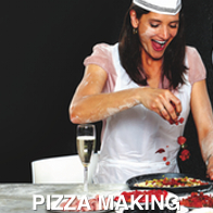 Lady Pizza Making