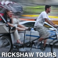 Rickshaw moving