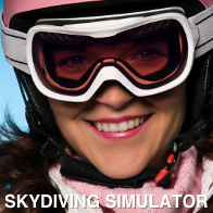 Lady Skydiving indoor