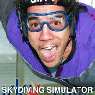 Man Skydiving indoor