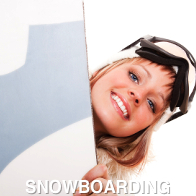 Lady Ready to Snowboard