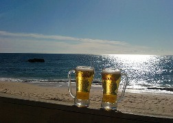 2 Pints Of Beer At The Beach