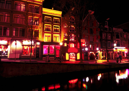 Amsterdam Night Red Light  District