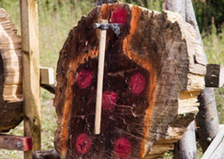 Axe Throwing in A Man Shaped Target