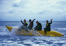 Stag Party on a Banana Boat Ride activity