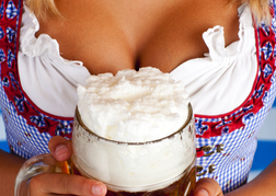 Stein of Beer Next To a Ladies Chest