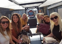 Hen Party on The Beer Bike in Blackpool