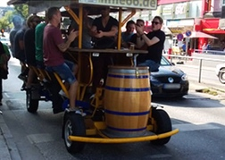 Stag party on a beer bike in Hamburg