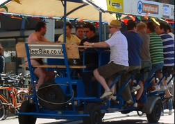 Beer Bike With a group from a stag do