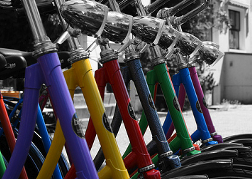 Colour Bicycles Close Up