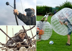 Bubble Football, Battle Archery & Assault Course