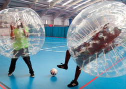 stag party playing Bubble Football