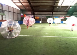 stag party playing Bubble Football Berlin