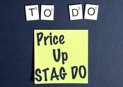 To Do List With Post It - build your own stag do