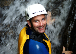 Man Canyoning Stag Do Activity