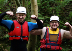 Stag Party messing around whilst Canyoning