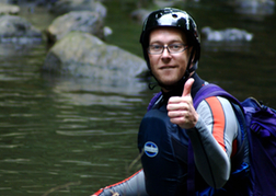 Canyoning Instructor Giving A Thumbs Up