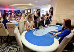 Poker table at a casino in Bratislava