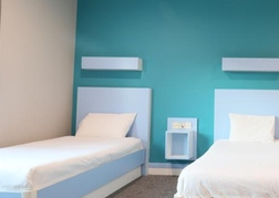 Twin room at Citrus Hotel Cardiff