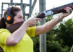 Lady from hen party Clay Pigeon Shooting