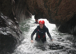 A Lady Coasteering In Bournemouth