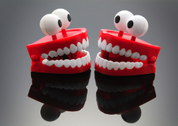 Plastic Teeth with Eyes