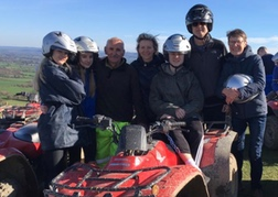 A family Quad Biking in North Wales