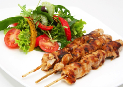Thai food satay chicken