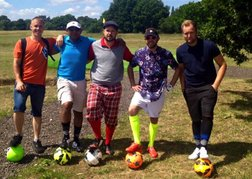 Group of Footgolfers Reading