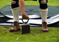 highland games in tradition dress