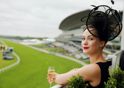 Lady At Ascot Racecourse
