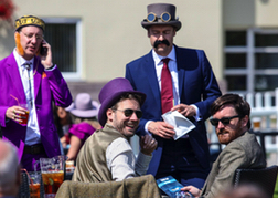 Horse Racing Haydock Park Fancy Dress Group