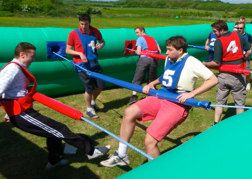 Stag Group playing Human Table Football Blackpool