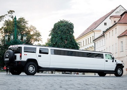 A massive Limo Hummer in Prague