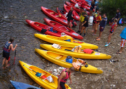 Yellow and Red Kayaks