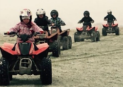 Kids quad biking in North Wales