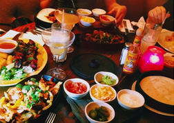 Las Iguanas Meal Table
